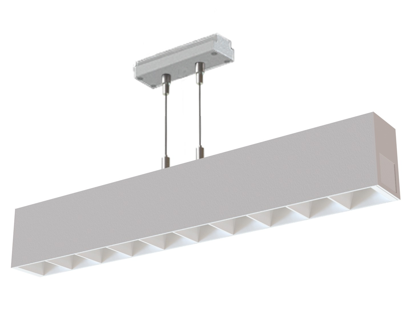 Suspended Linear Illuminated Module Louvered