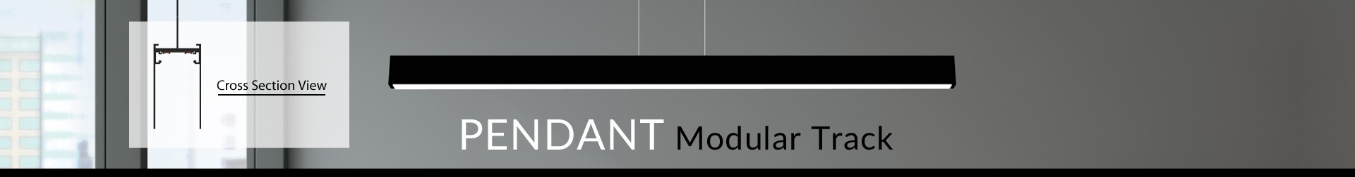 "1.5"" Pendant Modular Track"