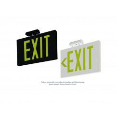 Self-Luminescent Exit Sign